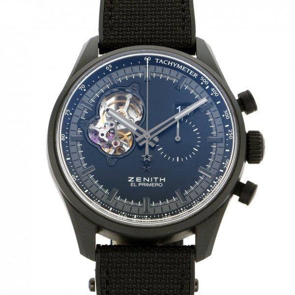 ゼニス ZENITH その他 エルプリメロ クロノマスターナイト ビジョン 24.2160.4068 ブルー文字盤 メンズ 腕時計 【中古】