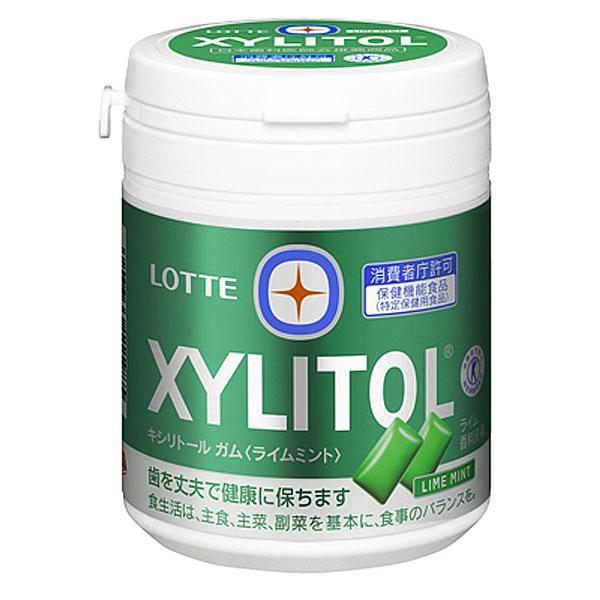 (本州送料無料)ロッテ キシリトールガム ライムミント ファミリーボトル(6×6)36入 (Y10)