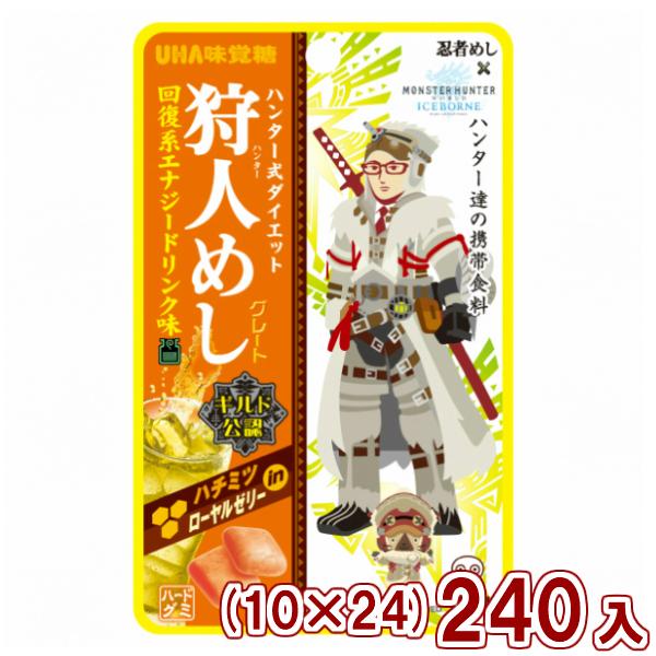 (10×24)240入 (本州送料無料)味覚糖 (Y12) 狩人めし 回復系エナジードリンク味
