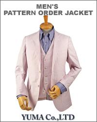 JATTS オーダージャケット生地番号J308-Jジャケット/綿 100%・ストライプ柄