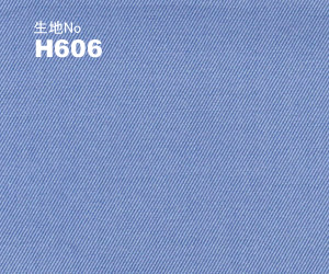 OLDBOY ビジネス オーダー ワイシャツ生地番号H606綿 100% ブルー無地/100番双糸使用