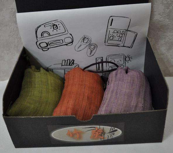 takesumi2/竹炭京染麻巾着入り50g×3こ★在庫のみに付き&激安に付お買い得商品