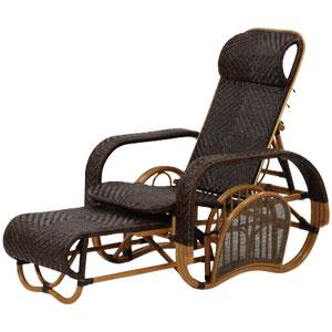 高級籐リクライニング三ッ折座椅子