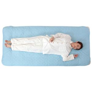 クールに眠れるサラサラ麻混敷きパッド 2枚組【ダブル】【代引き手数料無料】【送料無料】