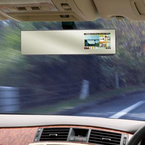 ドラレコ相互通信対応!ルームミラー型GPSレーダー探知機【代引き手数料無料】【送料無料】