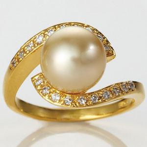 買い物 ゴールド真珠リング 代引き手数料無料 送料無料 引出物