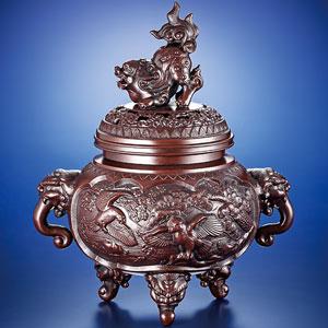 歴史と伝統の名作 香炉 新特大花鳥【代引き手数料無料】【送料無料】