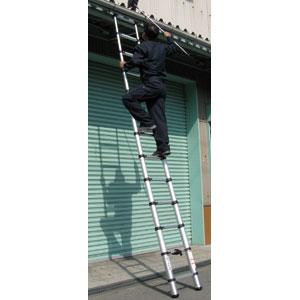 軽量設計 がっちり頑丈伸縮らくらくはしご【2.6mタイプ】【代引き手数料無料】【送料無料】
