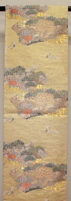 【中古】西陣 袋帯(正絹)伝統工芸士平井氏作