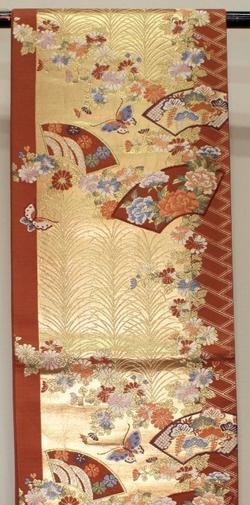 【中古】正絹西陣袋帯 袋帯