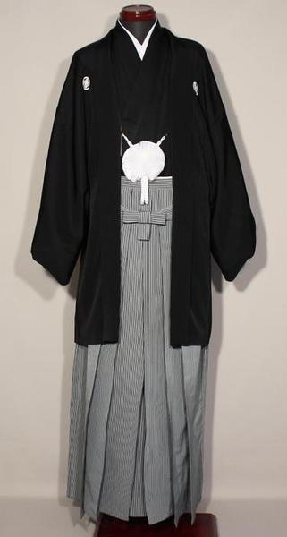 黒紋服 正絹 黒羽二重紋付