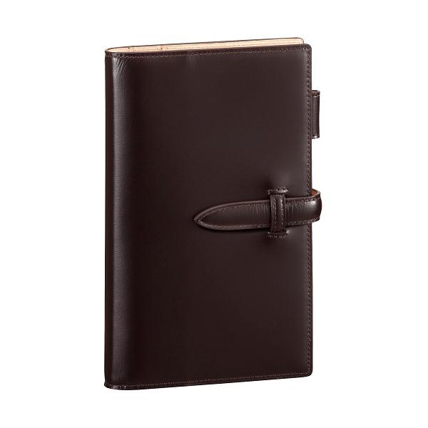 レイメイ藤井 ダヴィンチ ぺリンガーカーフ システム手帳 聖書サイズ ダークブラウン DB3018E キャッシュレス 5%還元対象