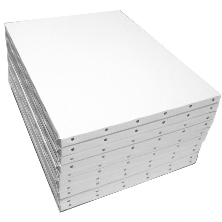 ホワイト 張りキャンバス KF F10 (530×455mm) 桐木枠 10枚パック キャッシュレス 5%還元対象