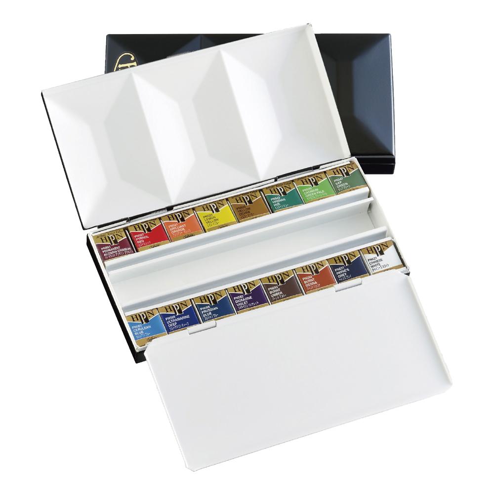 ホルベイン 固形水彩絵具 アーティスト パンカラー メタルボックス 16色セット キャッシュレス 5%還元対象