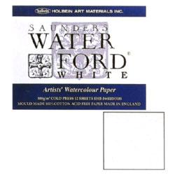 英国の代表的な高級水彩紙として長年愛用 WATERFORD ウォーターフォード 水彩紙 ホワイト・ブロック EHB-F4