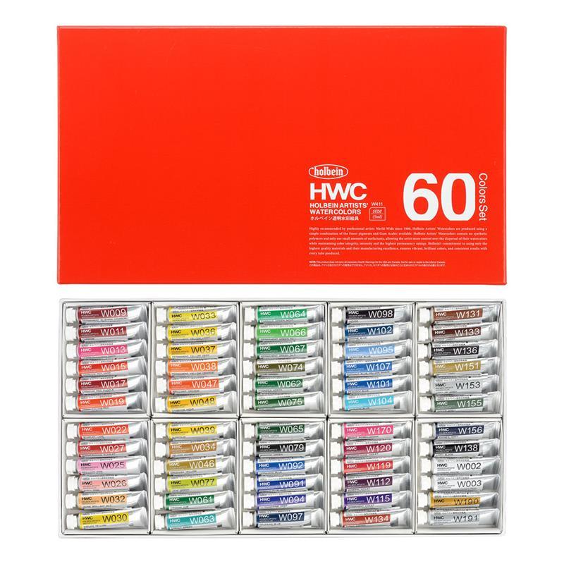 ホルベイン 透明水彩絵具 60色セット 2号チューブ キャッシュレス 5%還元対象