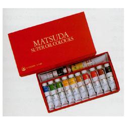 マツダ スーパー油絵具 12色セット キャッシュレス 5%還元対象