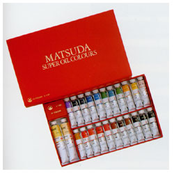 マツダ スーパー油絵具 24色セット キャッシュレス 5%還元対象