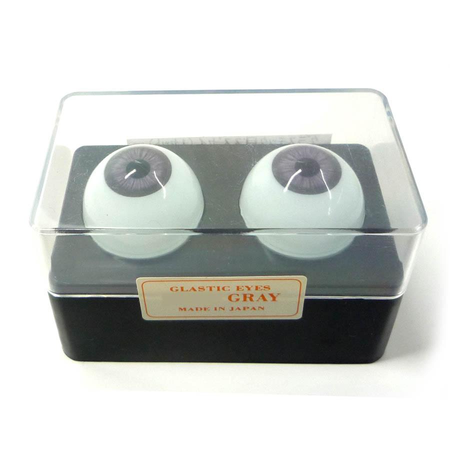 ビスクアイ グラスチック 灰12mm 白目部分含む UV ※人形の目 キャッシュレス 5%還元対象