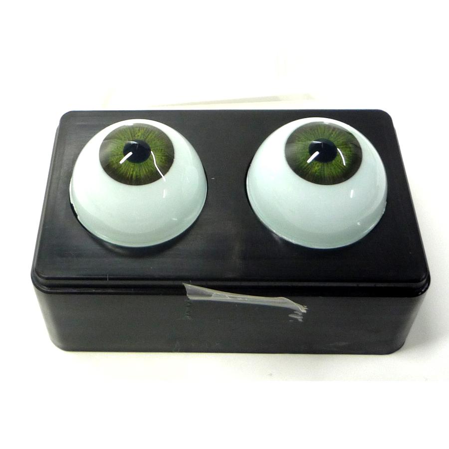 ビスクアイ グラスチック 淡緑14mm 白目部分含む UV ※人形の目 キャッシュレス 5%還元対象