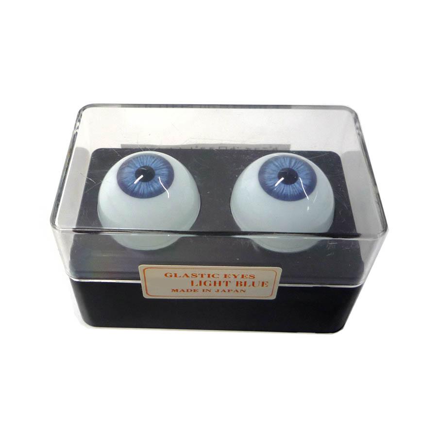 ビスクアイ グラスチック 淡青18mm 白目部分含む UV ※人形の目 キャッシュレス 5%還元対象