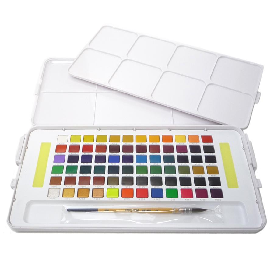SAKURA プチカラー 透明固形水彩 72色セット キャッシュレス 5%還元対象