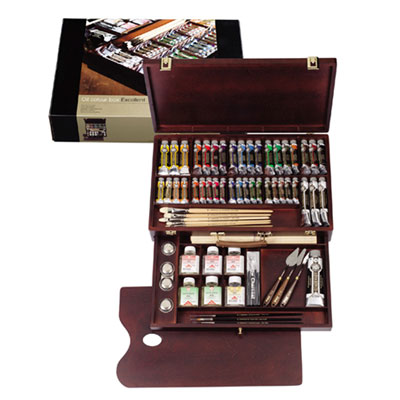 レンブラント 新ラグジュアリーボックス 油絵具 41色セット キャッシュレス 5%還元対象
