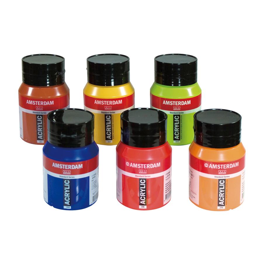アムステルダム アクリリックカラー スタンダード 500mlボトル 6色 Bセット キャッシュレス 5%還元対象