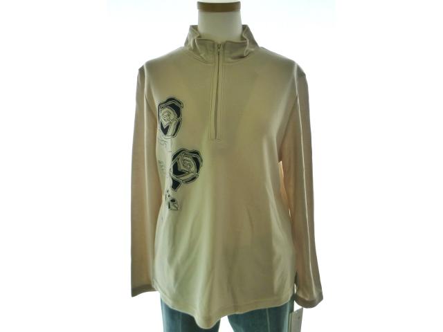 ロンティー バラ 白 黒 Tシャツ セール セール特別価格 レディース 長袖シャツ 交換無料 格安 激安