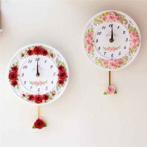 掛け時計 薔薇 ローズ 姫系雑貨 時計 壁掛け時計 新作送料無料 北欧 アンティークローズ 日本全国 送料無料 薔薇雑貨 かわいい 母の日ギフト おしゃれ