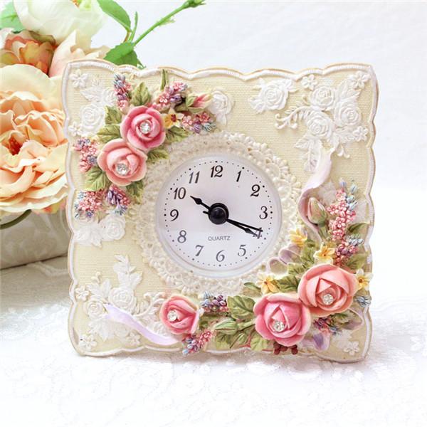 薔薇時計 ローズ時計 姫系時計 置き時計 置時計 おしゃれ 北欧 母の日ギフト アンティーク レッド 期間限定 ピンク 薔薇雑貨 新作通販