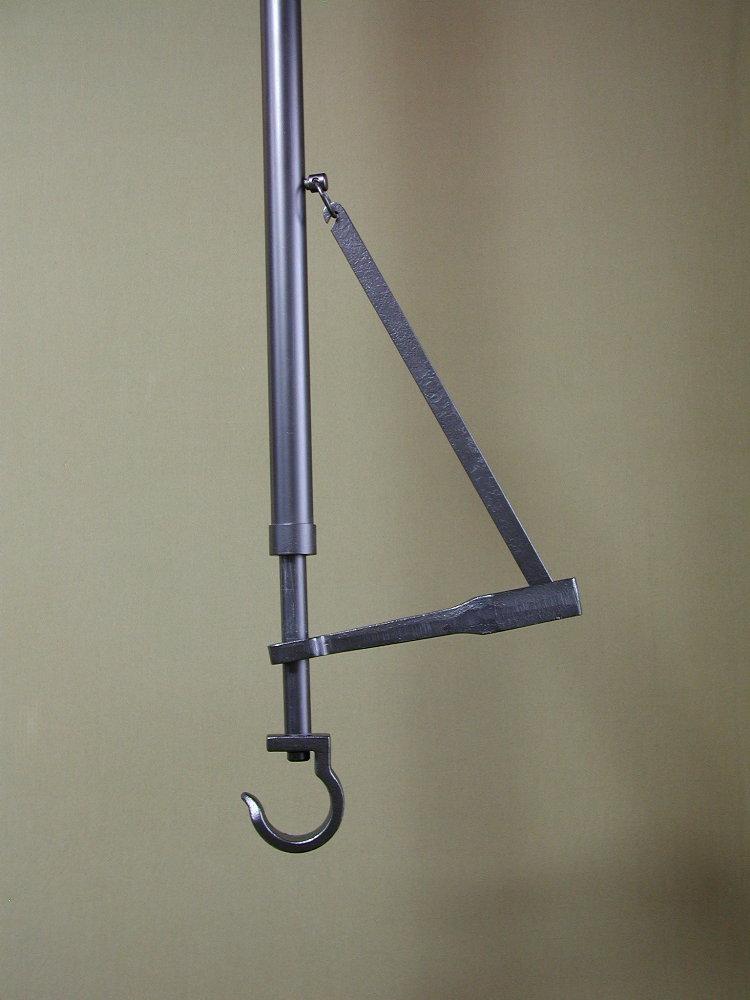 自在鉤 鉄パイプ-音叉 130cm