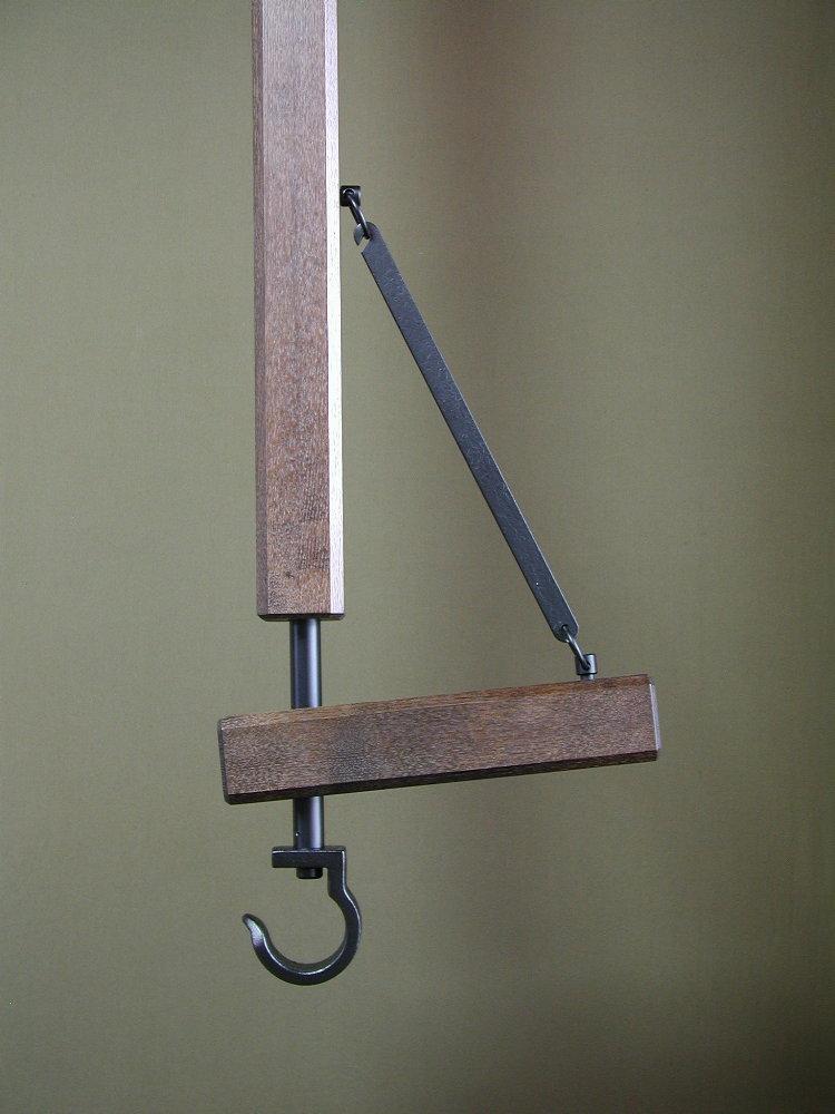 自在鉤 木製/拍子木 180cm 座卓囲炉裏/切炉