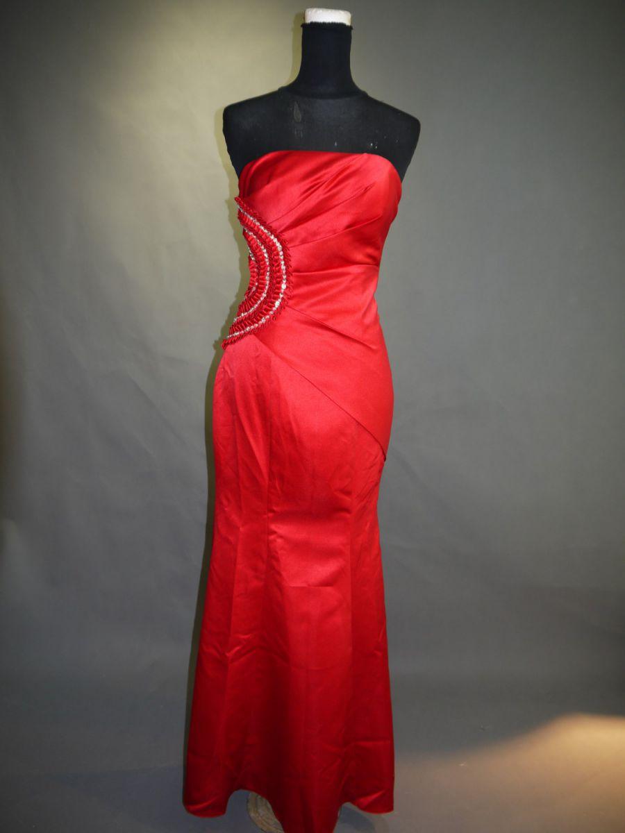 【全国送料無料】ビスチェ ロング マーメイドライン サテン パーティー ドレス