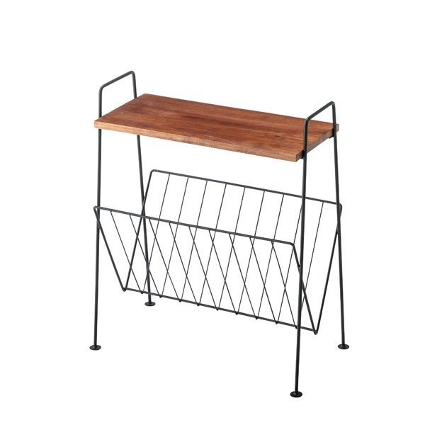単品 サイドテーブル エンドテーブル コーナーテーブル 小型 脇台 机 (数量1) ブラック 黒