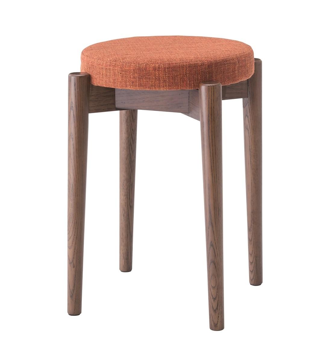 スタッキングスツール イス バーチェア 椅子 カウンターチェア (数量1) ブラウン 茶