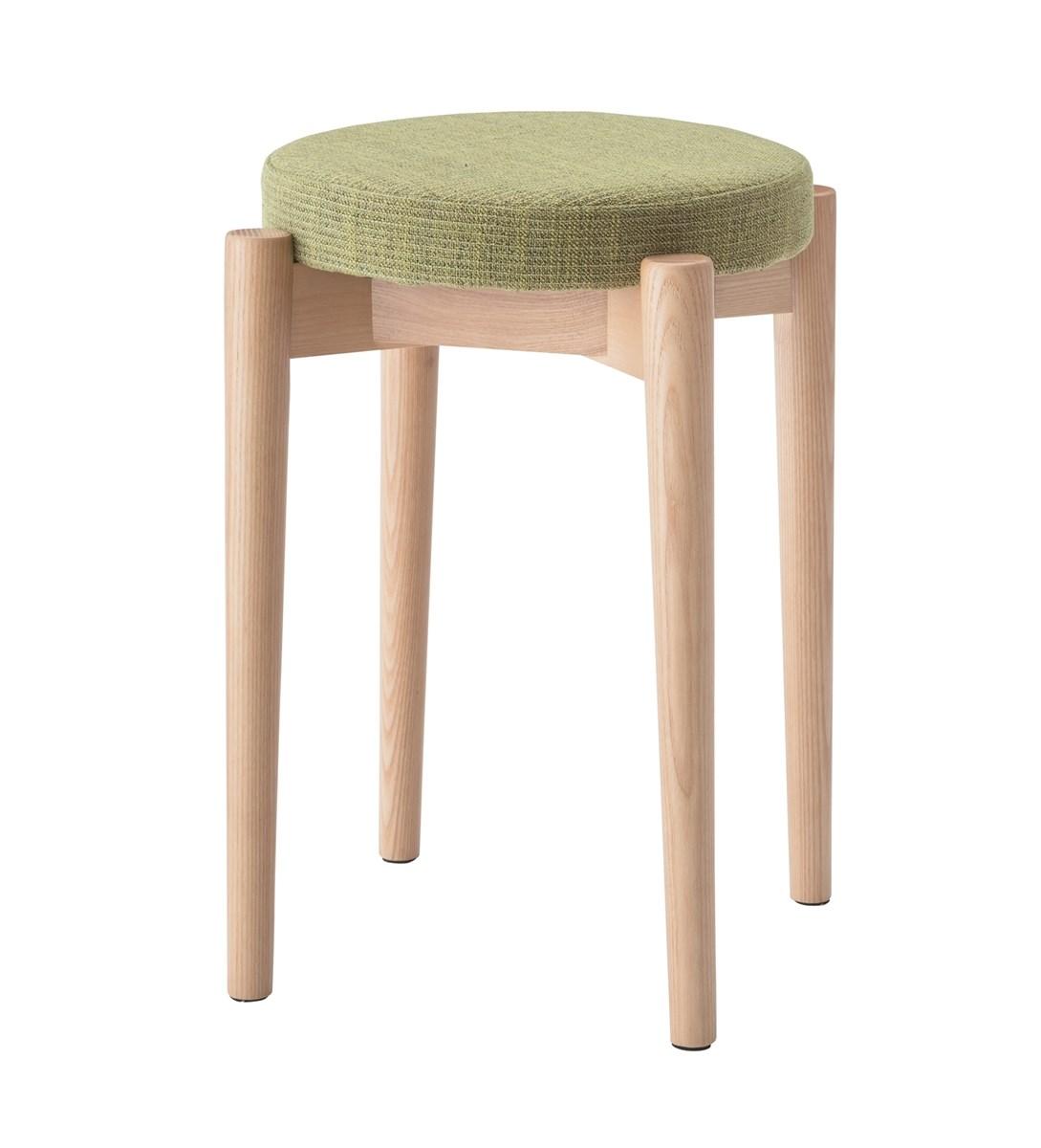 スタッキングスツール イス バーチェア 椅子 カウンターチェア (数量1) グリーン 緑