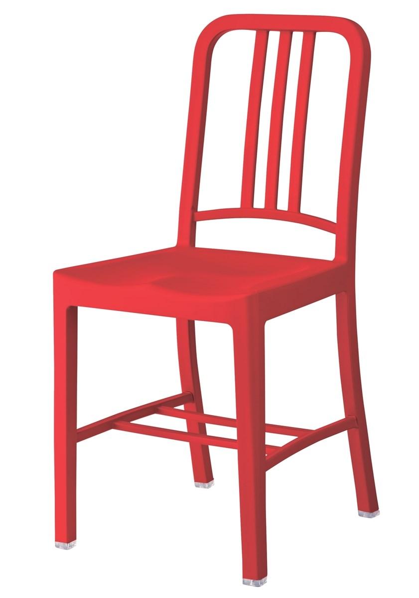 単品 チェア (イス 椅子) (数量1) レッド 赤