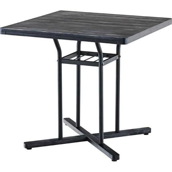 単品 カフェテーブル 机 ブラック 黒
