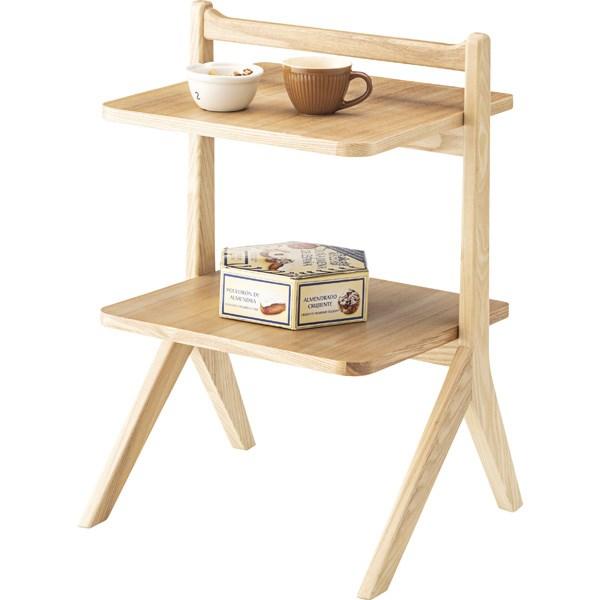 単品 サイドテーブル エンドテーブル コーナーテーブル 小型 脇台 机 ナチュラル