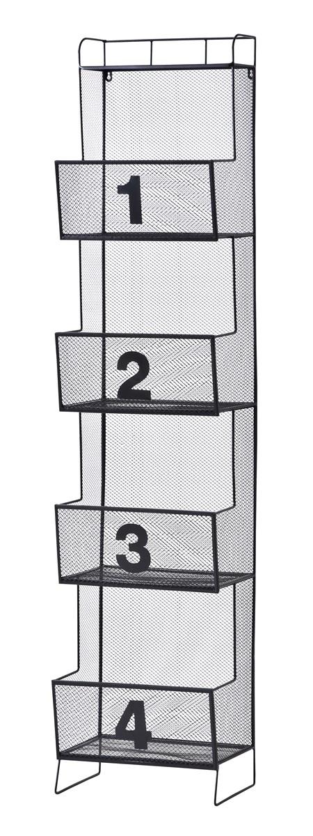 メッシュシェルフ 整理 収納 棚 キャビネット 4D ブラック 黒