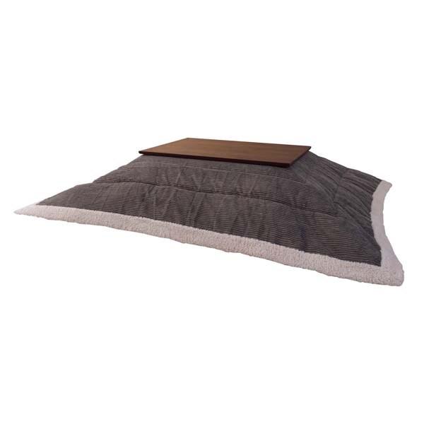 薄掛けこたつ布団 チョウホウケイ (数量1) グレー 灰