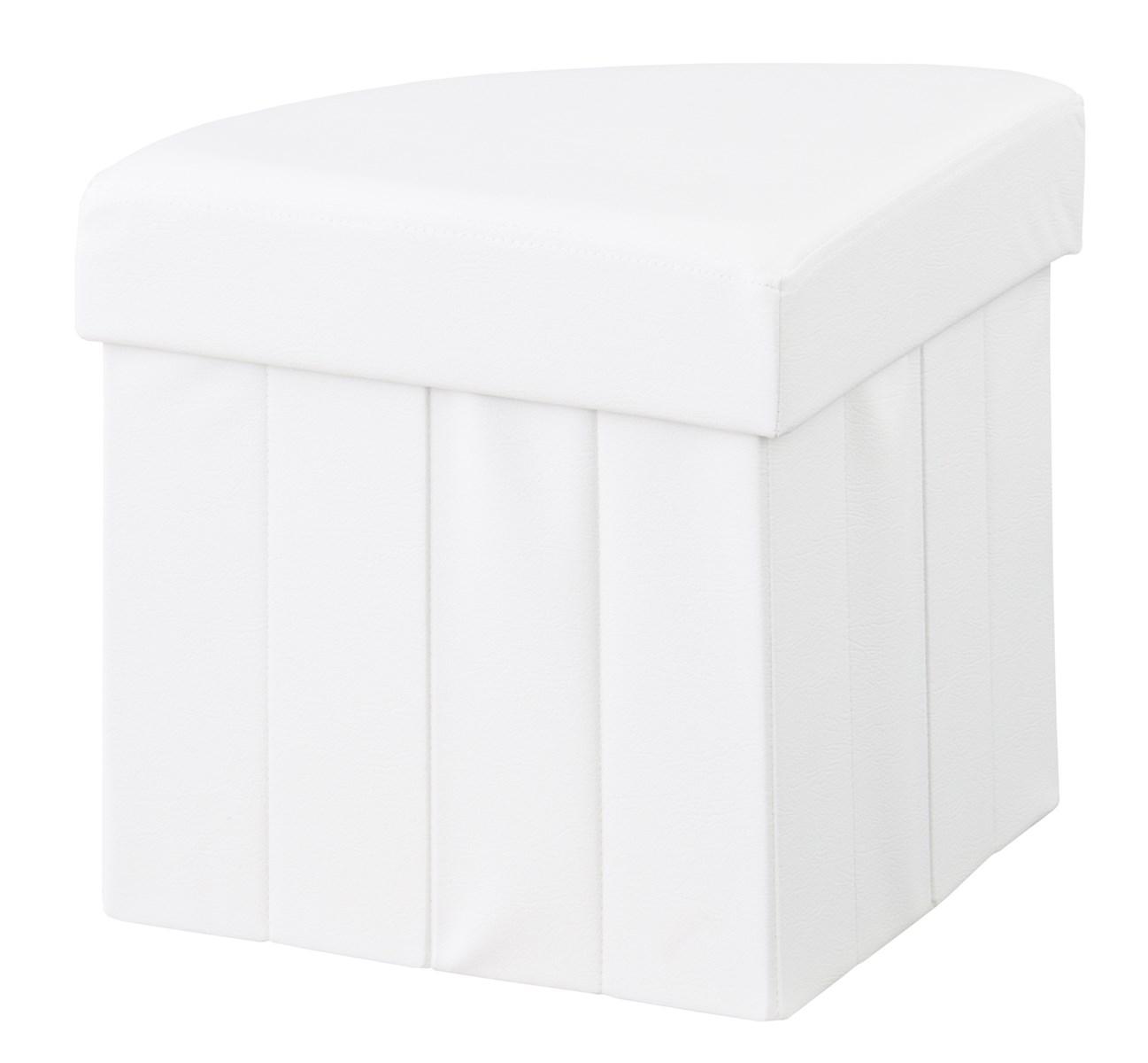 ボックススツール イス バーチェア 椅子 カウンターチェア コーナー (数量1) ホワイト 白