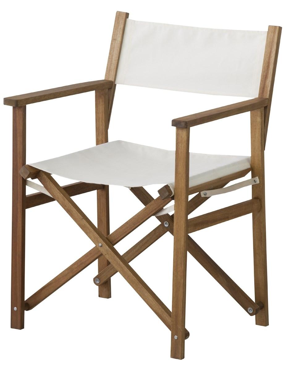 単品 パティオディレクターチェア (イス 椅子) (数量1) ホワイト 白