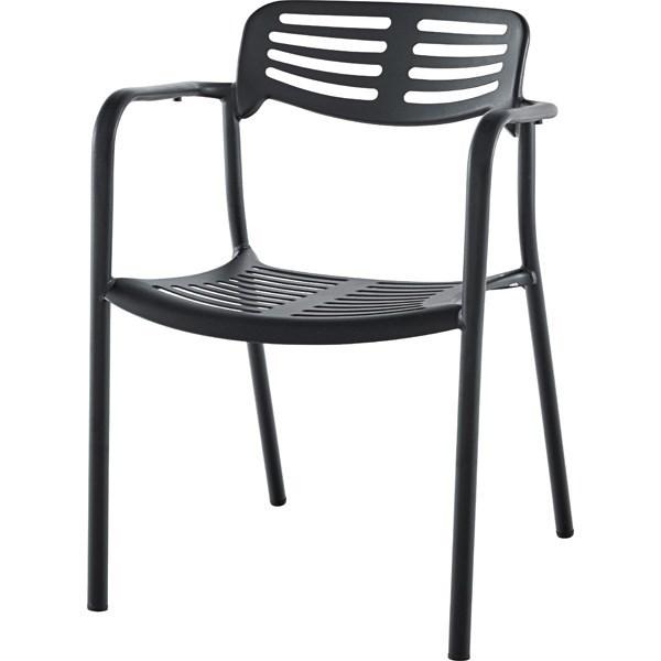 単品 アームチェア (イス 椅子) (数量1) ブラック 黒