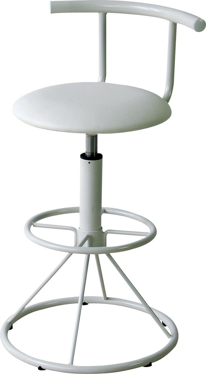 単品 ハイチェア (イス 椅子) (数量1) ホワイト 白