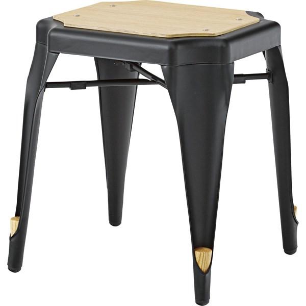 スツール イス バーチェア 椅子 カウンターチェア (数量1) ブラック 黒