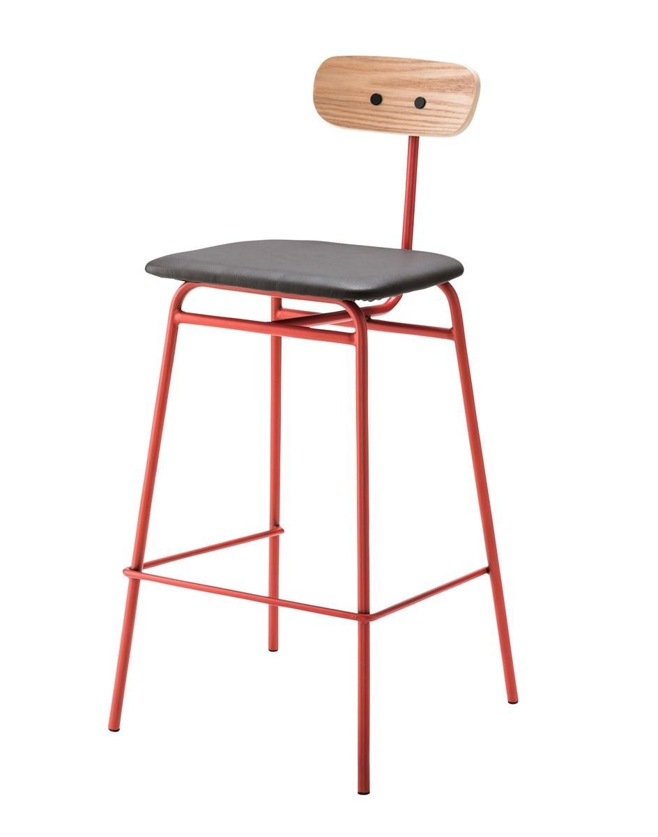 単品 ハイチェア (イス 椅子) レッド 赤