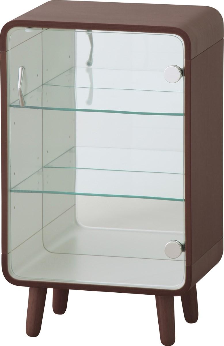 コレクションシェルフ 整理 収納 棚 キャビネット S ブラウン 茶