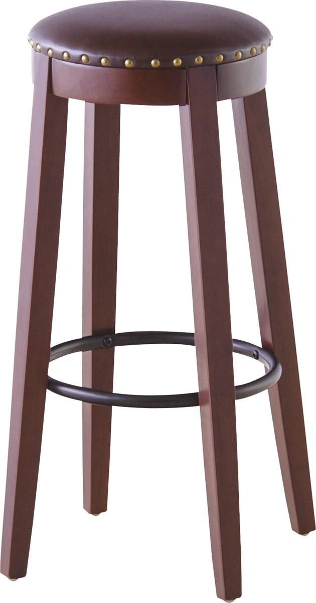 カウンタースツール イス バーチェア 椅子 カウンターチェア (数量1) ブラウン 茶